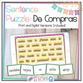 Spanish Clothing and Shopping Scrambled Sentences Puzzle