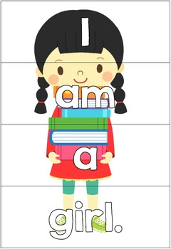 Sentence Puzzle Match Center for Emergent Readers