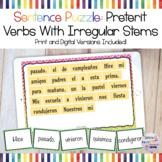 Sentence Puzzle: Preterit Verbs with Irregular Stems