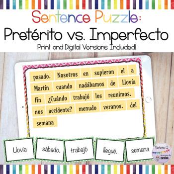 Sentence Puzzle: Pretérito vs Imperfecto