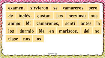 Sentence Puzzle: Stem-Changing Preterit Verbs
