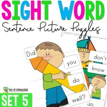 Sight Word Sentence Puzzles Primer The Bundle