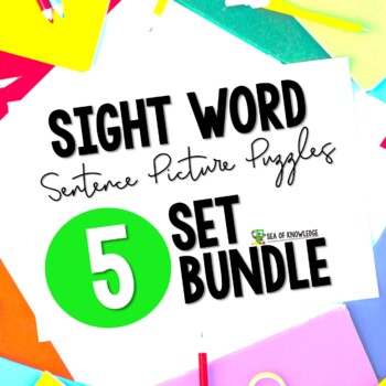 Sight Word Sentence Puzzles Primer The Bundle