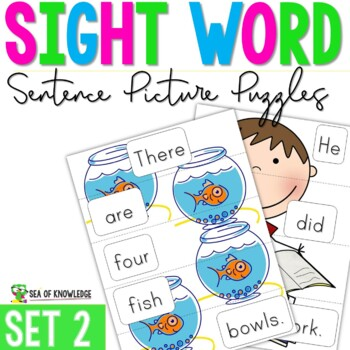 Sight Word Sentence Puzzles Primer {Part 2}