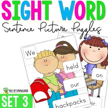 Sight Word Sentence Puzzles Primer {Part 3}