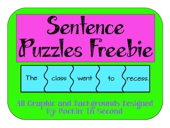 Sentence Puzzles FREEBIE