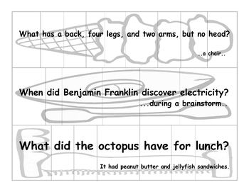 Sentence Puzzles with Riddles and Puns for Grades 1-3