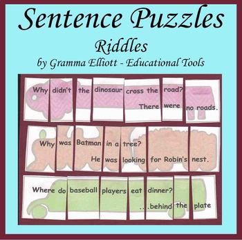 Sentence Puzzles with Riddles for Grades 1-3