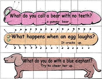Sentence Puzzles with Riddles for Grades 1-3 Sampler