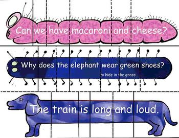 Sentence Puzzles for Learning Punctuation and Sight Words with puns and jokes
