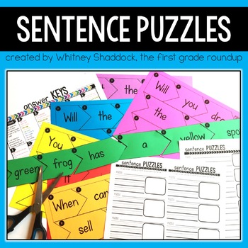 Sentence Building Puzzles for Reading Levels A-K