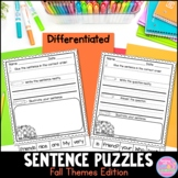Sentence Puzzles {Fall Themes Edition}