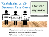 Sentence Race Game for Realidades 2, Chapter 5B