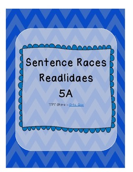 Sentence Races (Realidades 1 - 5A)