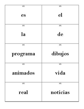 Sentence Races (Realidades 1 - 9A)