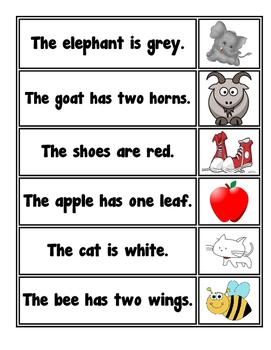 Sentence Reader Card Sort Activity