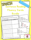 Sentence Fluency Reading Cards BUNDLE (Spanish)