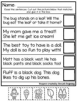 Sentence Reading Practice!