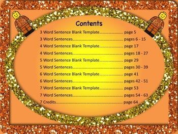 Sentence Reading, Writing, and Building Set 1 - 55 Printable Worksheets NO PREP!