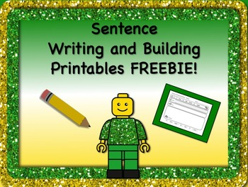 Sentence Reading, Writing, and Building Printable Worksheets 5 FREEBIES NO PREP!