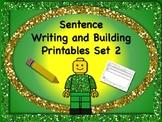 Sentence Reading, Writing, and Building Set 2 - 55 Printable Worksheets! NO PREP