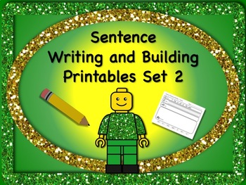 Sentence Reading, Writing, and Building Set 2 - 55 Printable Worksheets! NO PREP
