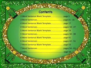 Sentence Reading, Writing, and Building Set 2 - 55 Printable Worksheets NO PREP!