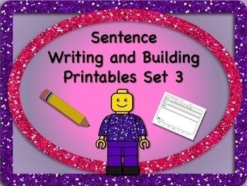 Sentence Reading, Writing, and Building Set 3 - 55 Printable Worksheets! NO PREP