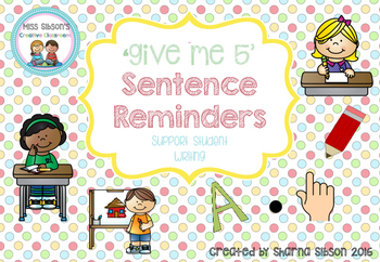 Sentence Reminders 'Give me 5'