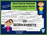 Sentence Repair - Capitalization