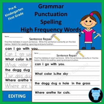 Sentence Repair for Kindergarten