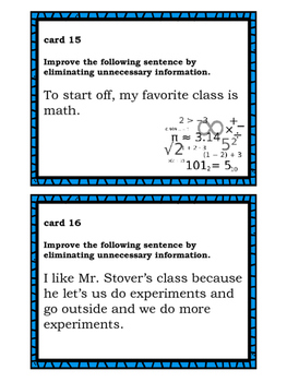 Sentence Revision Task Cards