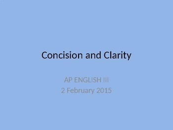 Sentence Revision for Clarity and Concision