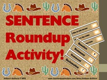 Sentence Roundup Activity