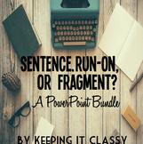 Sentence, Run-On, or Fragment PowerPoint Bundle