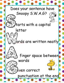 Sentence SWAG Checklist