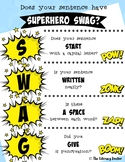 Sentence SWAG! Does your sentence have Superhero SWAG? FRE