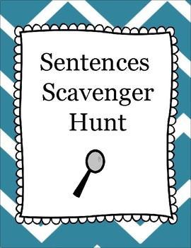 Sentence Scavenger Hunt