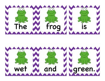 Sentence Scramble - 14 sentences, great for Primary Literacy Centres