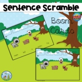 Sentence Scramble 2, Distance Learning, Boom Cards
