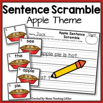 Sentence Scramble - Apple Theme