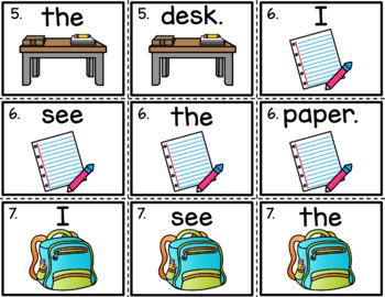 Sentence Scramble - Back to School