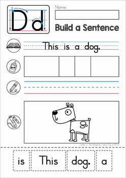 build a sentence sentence scramble cut and paste worksheets by lavinia pop. Black Bedroom Furniture Sets. Home Design Ideas