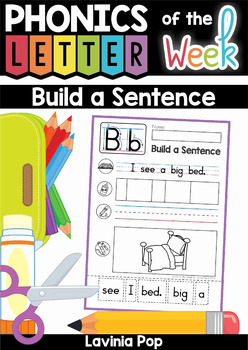 Build a Sentence: Sentence Scramble Cut and Paste Worksheets