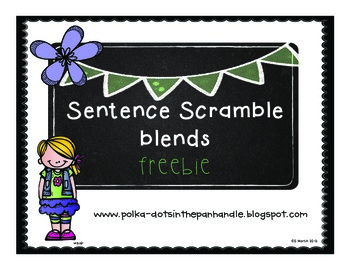 Sentence Scramble Blends Freebie