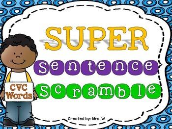 Sentence Scramble - CVC Words