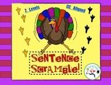Sentence Scramble - Common Core Thanksgiving