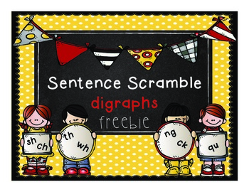 Sentence Scramble Digraphs Freebie