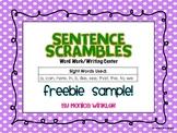 Sentence Scramble FREEBIE SAMPLE {Differentiated}