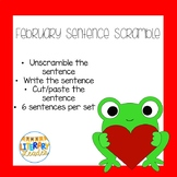 Sentence Scramble February Valentine Set 1